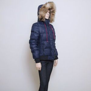 American Eagle Faux Fur Puffer Jacket